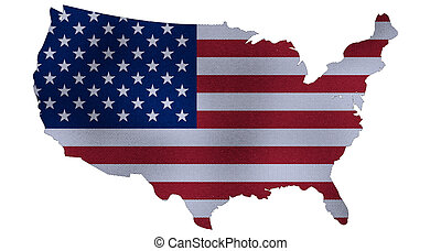 staten, kaart, verenigd, render, 3d