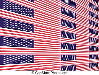 staten, nationale, verenigd, vlag