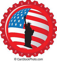 staten, stylized, vlag, verenigd