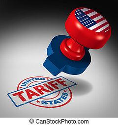 staten, tariffs, verenigd