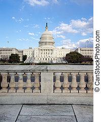 staten, verenigd, capitool heuvel