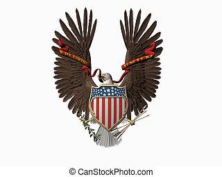 staten, verenigd, one., zeehondje, velen, uit