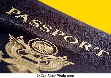 staten, verenigd, paspoort