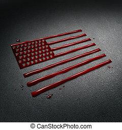 staten, verenigd, tragedie