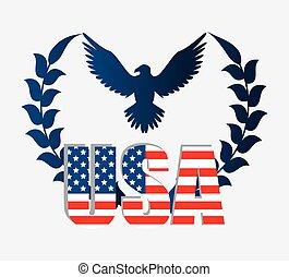 staten, verenigd, vaderlandsliefde, design.
