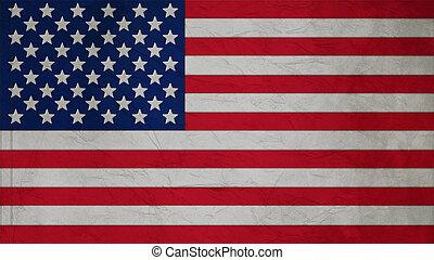 staten, vlag, verenigd, textuur, onduleren