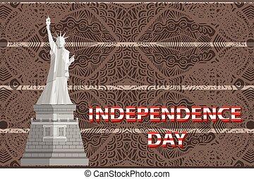 states., vetorial, unidas, dia independência
