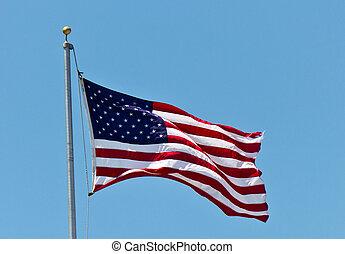stati, bandiera, unito, america