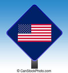 stati, bandiera, unito, america, segno