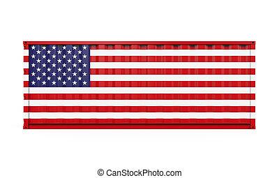 stati, bandiera, unito, contenitore