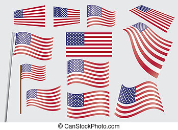 stati, bandiera, unito