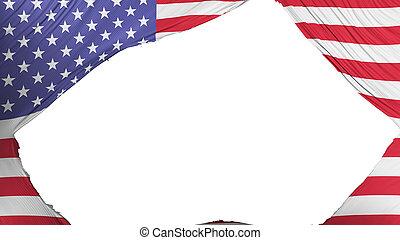 stati, diviso, unito, bandiera, america