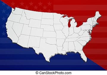 stati, diviso, unito, bandiera, politically