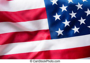 stati, fondo., bandiera, unito