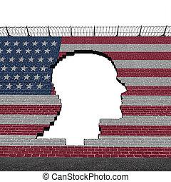 stati, illegale, unito, immigrazione