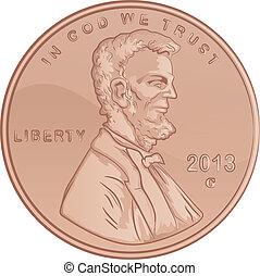 stati, lincoln, unito, penny