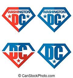 stati, logos, america, unito, vettore