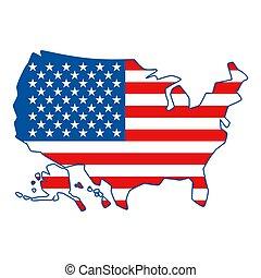 stati, mappa, america., unito