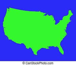 stati, mappa, unito, contorno, america