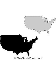 stati, mappa, unito