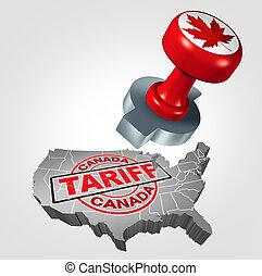 stati, tariffs, unito, canadese
