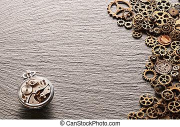 stati uniti, monete, metallo, meccanismo, vario, ruote dentate