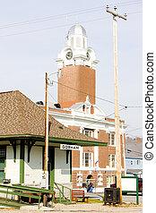 stati uniti, museo, hampshire, nuovo, ferrovia, gorham