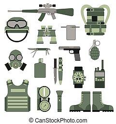 stati uniti, o, nato, truppa, militare, esercito, simboli