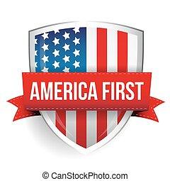 stati uniti, scudo, america, primo, bandiera