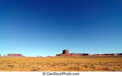 stati uniti, valle, utah, monumento, pano, paesaggio