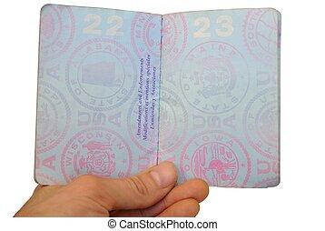 stati, unito, aperto, passaporto