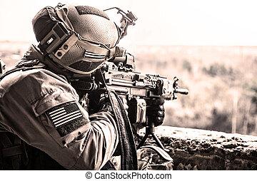 stati, unito, esercito, guardia forestale