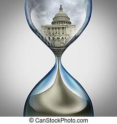 stati, unito, scadenza, governo