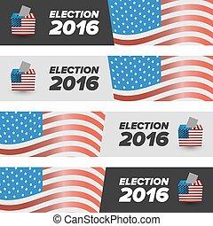 stati, voto, bandiere, unito, elezione
