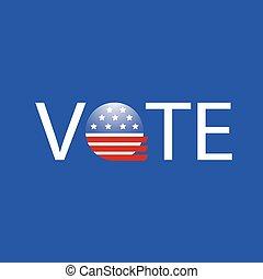 stati, voto, bottone, unito, elezione