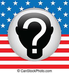stati, voto, unito, elezione, button.