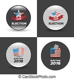 stati, voto, unito, elezione, tesserati magnetici