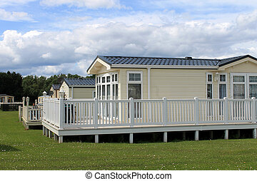 Static caravans in holiday park