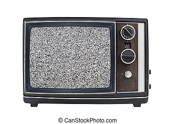 Static Screen Vintage Portable Television