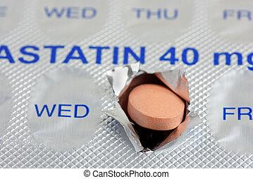 statin, tablette, quotidiennement, dose