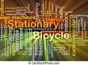 stationär, glühen, begriff, fahrrad, hintergrund