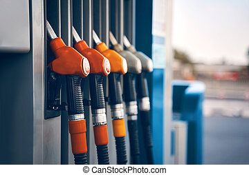station, carburant, service, pompes