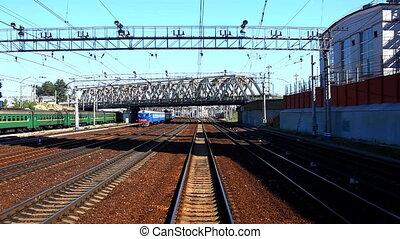 station, défaillance, mouvement, chemin fer, temps