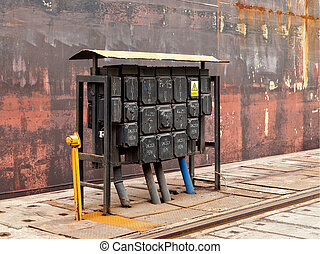station, elektrisch, schaltung