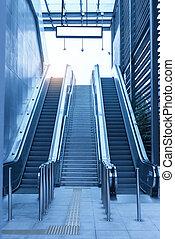 station, flughafen, moderne architektur