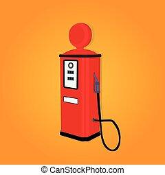station,  gas,  retro