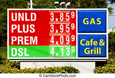 station, gas, underteckna