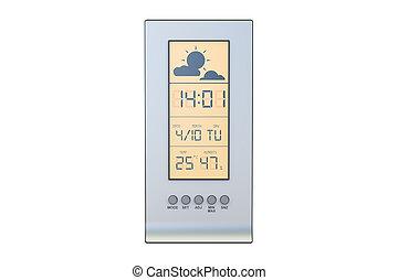station météorologique, closeup, 3d, rendre