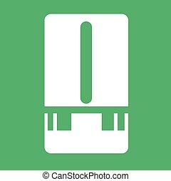 station météorologique, mètre, icône, illustration, conception
