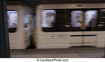 station, métro, partir